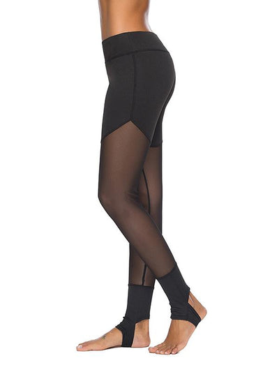 Sexy Gauze Split-joint Leggings