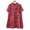 Casual Print Linen Women Red Suits(Shirt+Pants)