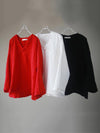 Casual Original Chinese Style Blouses in Red, Black or White Colors
