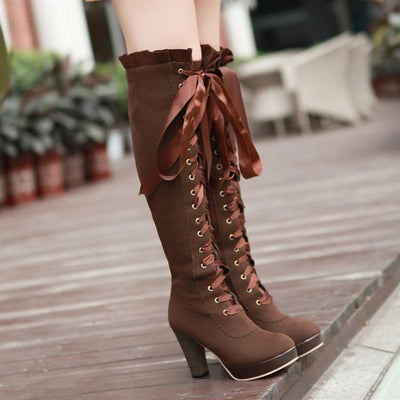 Lady Bow high boots