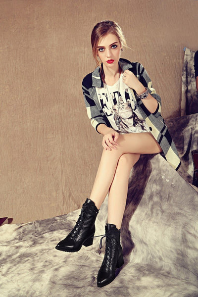 Fashion Cowhide short boots