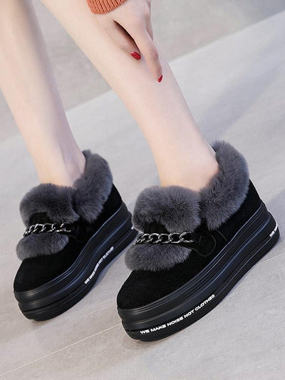Artificial Fur Hight Warm Snow Boots