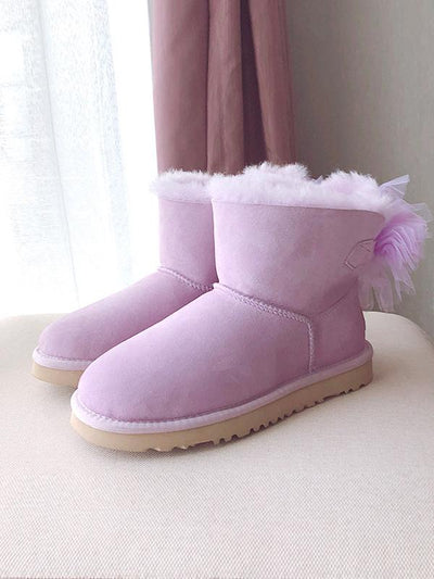 Artificial Leather Wool Non-Slip Tube Short Boots Uggs