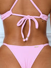 V-Neck Hollow Metal Ring Bikini Swimsuit