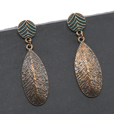 alloy fashion trend retro earrings