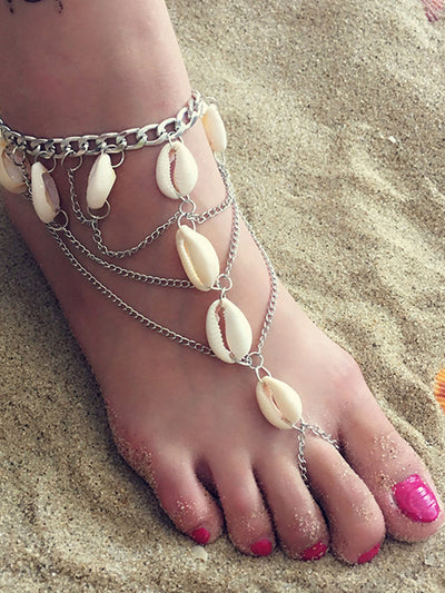 Fringe Multi-layer Tassel Summer Beach Foot Chain Accessory
