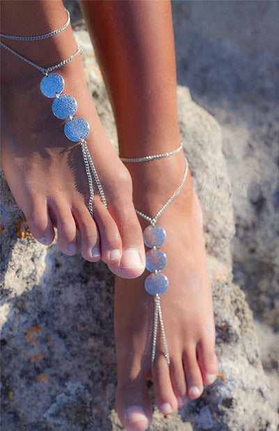 Bohemian Retro Engraved Foot Chain Accessory
