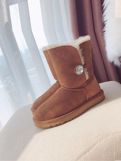 Medium Tube Pure Wool Snow Boots Uggs