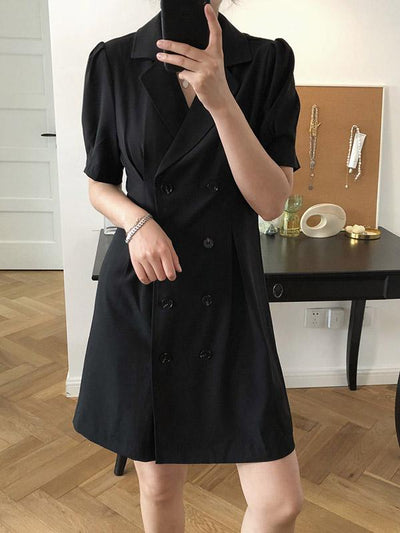Vintage Fashion V-neck Suit Dress
