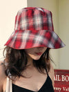 Leisure Versatile Plaid Fisherman Hat