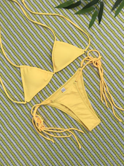 Popular Solid Bikini Set