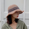 Buykud Colorblock Striped Warm Foldable Bucket Hat