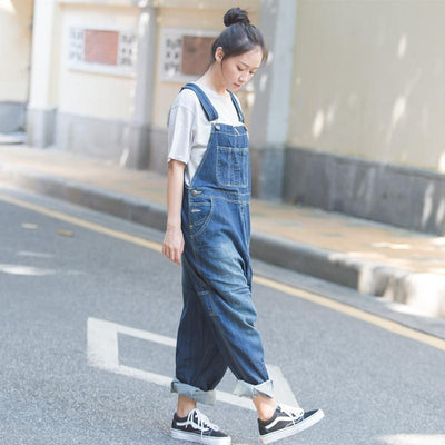 Autumn Casual Loose Cotton Jumpsuits