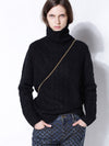 LOOSE HIGH-NECK CASHMERE SOLID COUPLE SWEATER