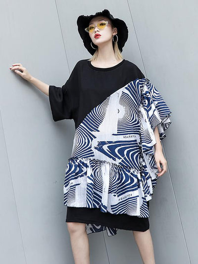 Plus Size Split-joint Long Shirt Dress