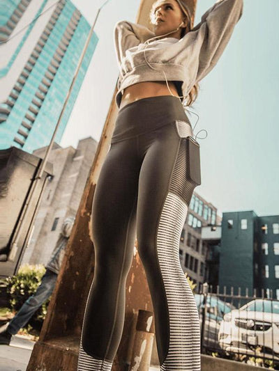 Side Pocket Wide Waistband Leggings