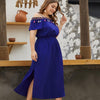 Plus Size Off-the-Shoulder Long Dress