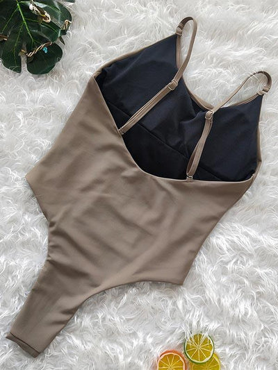 Backless Hollow One-piece Swimwear