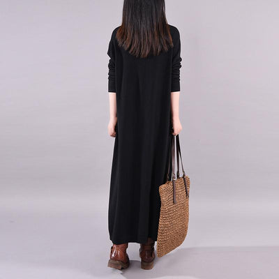 Buykud New Fashion Button Decaration Knit Dress