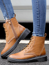 Vintage Solid Color Bandage Boots