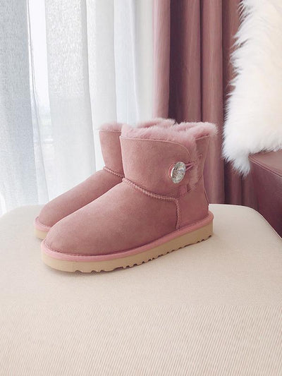 Waterproof Anti-Fouling Artificial Leather Flat Bottom Wool Uggs
