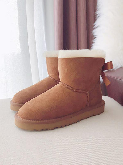 Short Tube Pure Wool Snow Boots Uggs