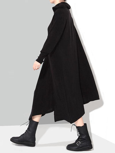 Loose Irregular Cutting Long Dress