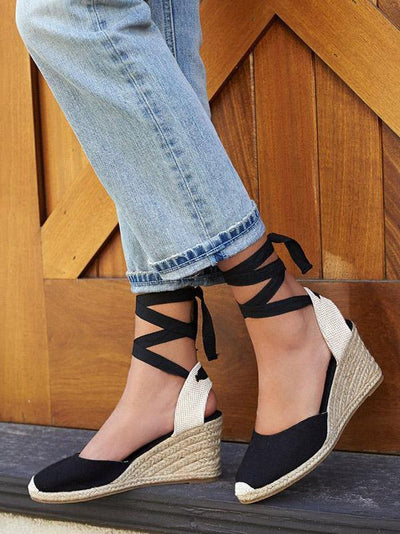 Bandage Wedge Heels Shoes