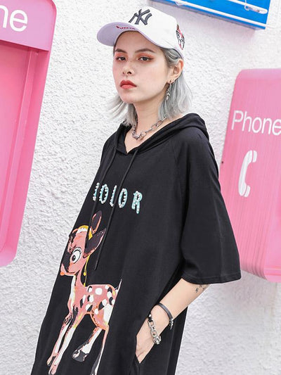 Casual Hoodie Long Dress