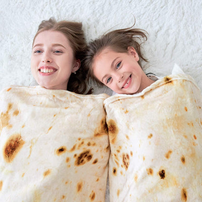 Novelty Tortilla Blanket for Your Family, Soft and Comfortable Flannel Taco Blanket for Kids.