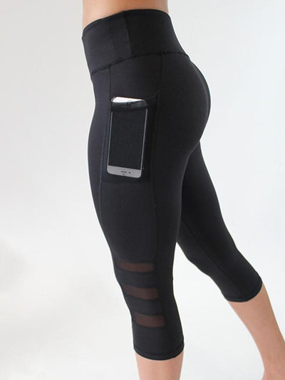 Hollow Wrap Sports Pocket-with Yoga Leggings