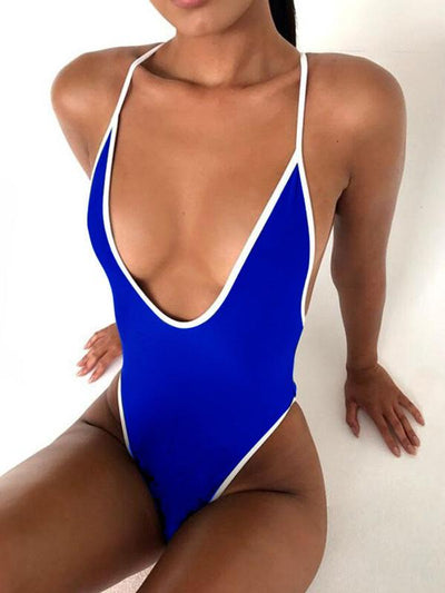 10Colors Backless One-piece Swimwear