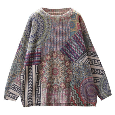 Beautiful Color Pattern Soft Warm Sweater