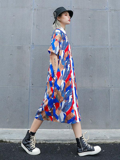 Colorful Cube Long Dress