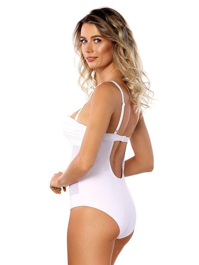 Spaghetti Straps Solid One Piece Swimwear