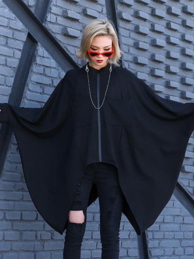 Plus Size Cropped Batwing Sleeves Shirt Top