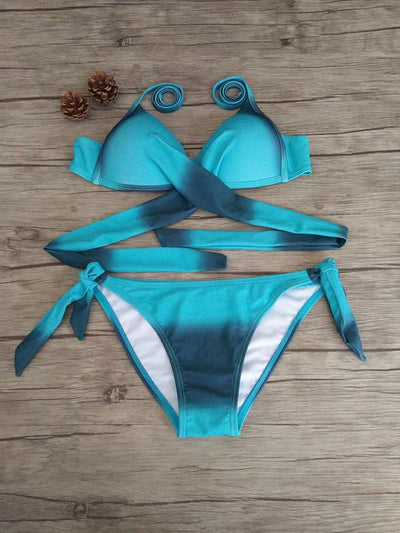 Plus Size Candy Color Bikinis Swimwear