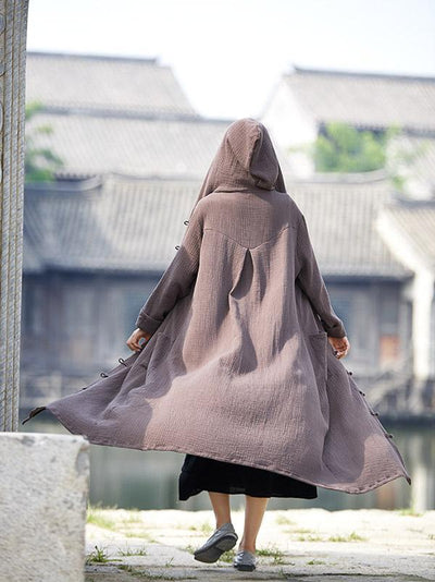 Chinese Style Casual Coat with Cape, Five Colors