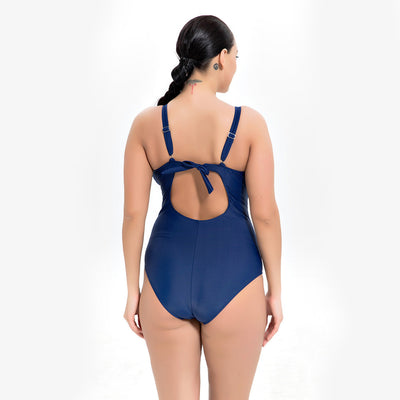 1946 PRINTING PLUS SIZE ONE-PIECE SWIMSUIT