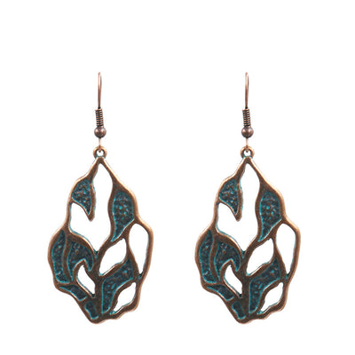 Retro alloy patina earrings