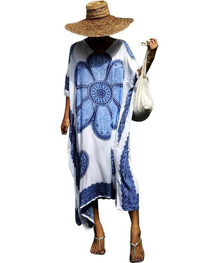 Printed Loose Kaftan Cover-up Dress