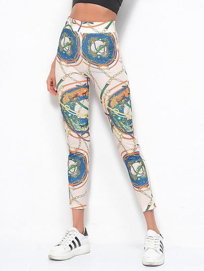 Printed Sports High Waisted Leggings