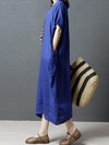 Clean Color Casual Long Dress, Three Colors