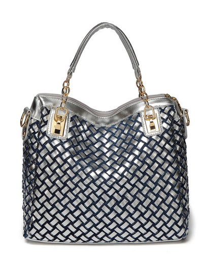 Vertical casual rhinestone women's bag