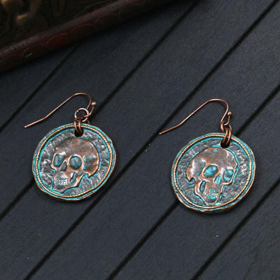 Alloy retro skull earrings
