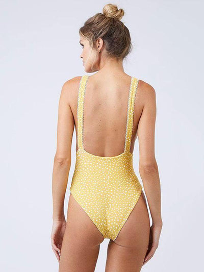 Polka-dot Knott One-piece Swimwear