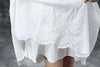 Summer Short Sleeve Lacing Pleated White Casual Dress