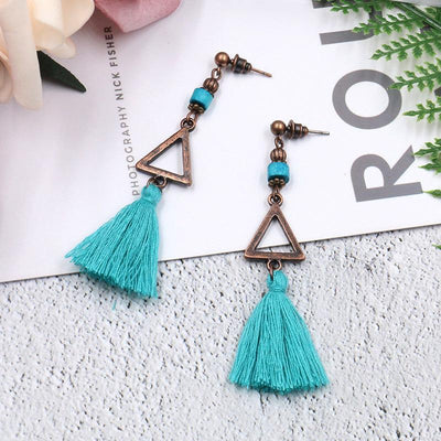 5 COLOR New fashion bohemian earrings tassel ladies personalized jewelry earrings