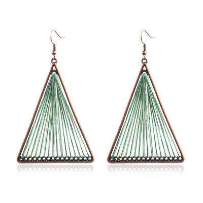 4 color Fashion alloy hand-woven Bohemian jewelry earrings