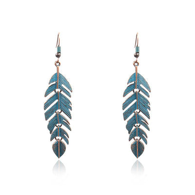 Fashion vintage alloy leaves fashion Earrings Wholesale
